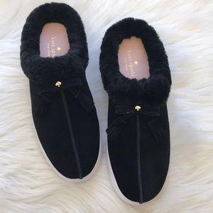 NEW Kate Spade Slide On Shearling Sneaker